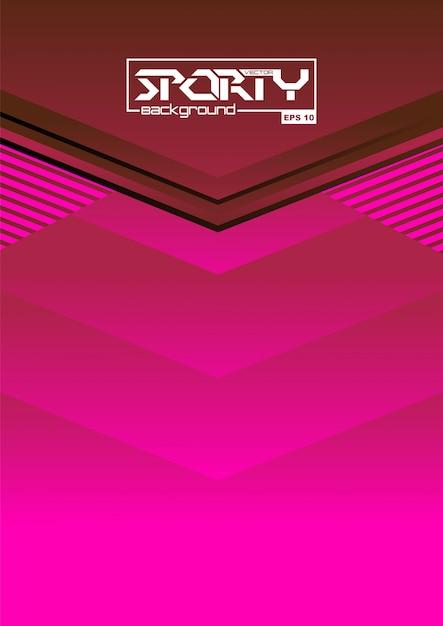 Abstrait sportif Vecteur Premium