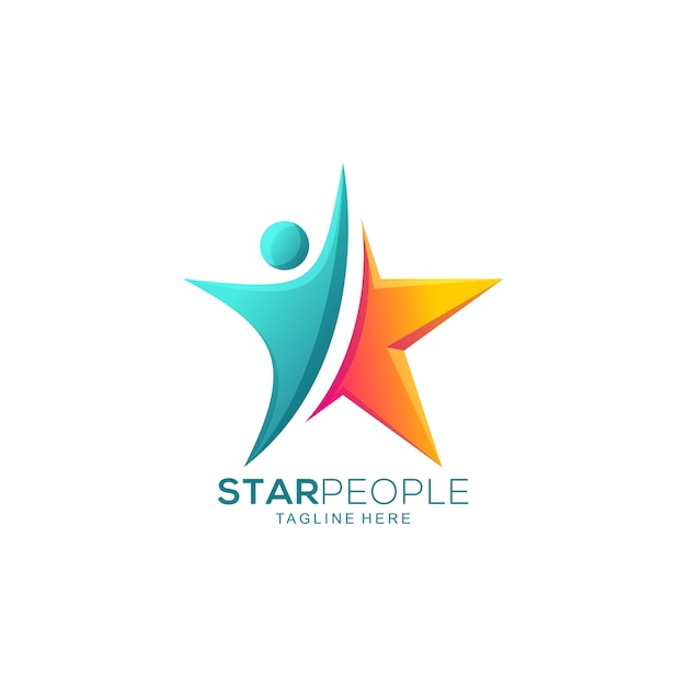 Abstrait Star People Vecteur Premium