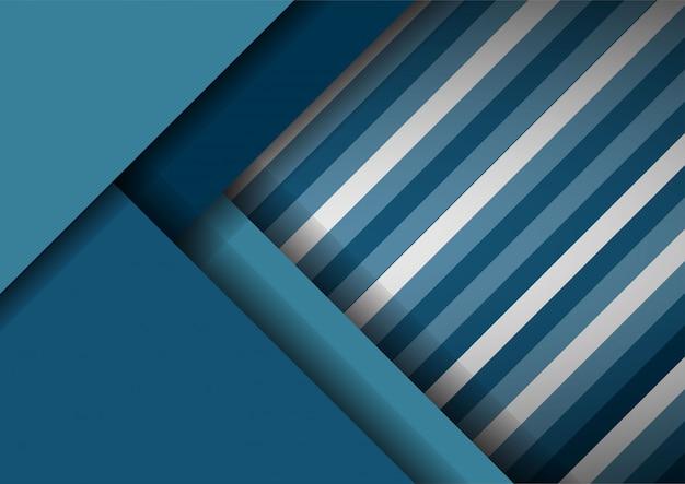 Abstrait striper découpe papier décoré Vecteur Premium
