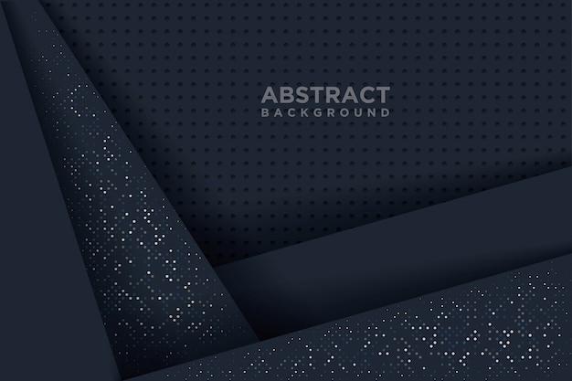 Abstrait avec un style d'art de papier 3d. Vecteur Premium