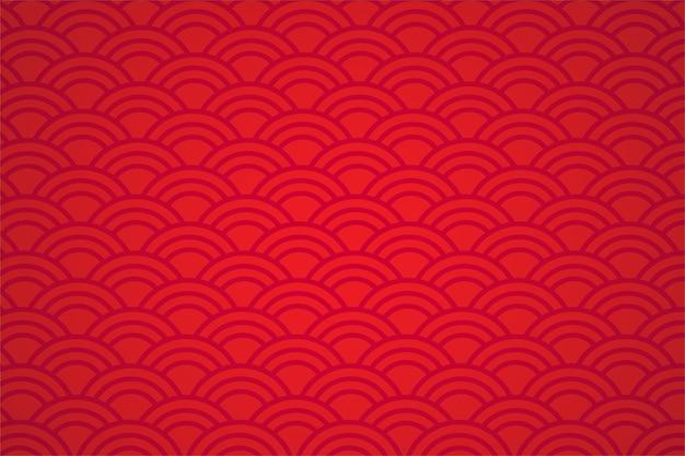 Abstrait de style asiatique rouge. Vecteur Premium