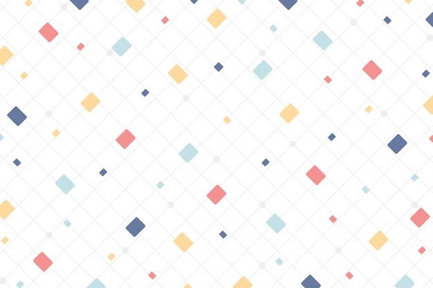 Abstrait Style Coloré Minimal De Fond D'éléments De Conception Carrée. Vecteur Premium