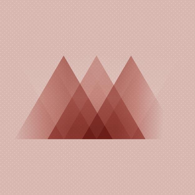 Abstrait De Style Scandinave Low Poly Design Vecteur gratuit