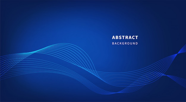 Abstrait technologie bleu. Vecteur Premium