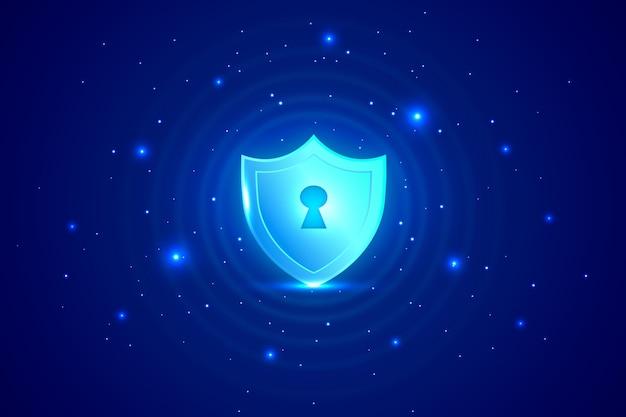 Abstrait technologie sécurisée Vecteur gratuit