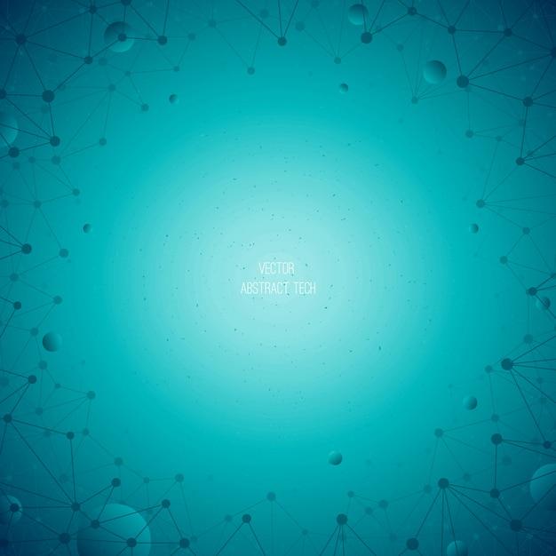 Abstrait technologique vecteur bleu Vecteur Premium