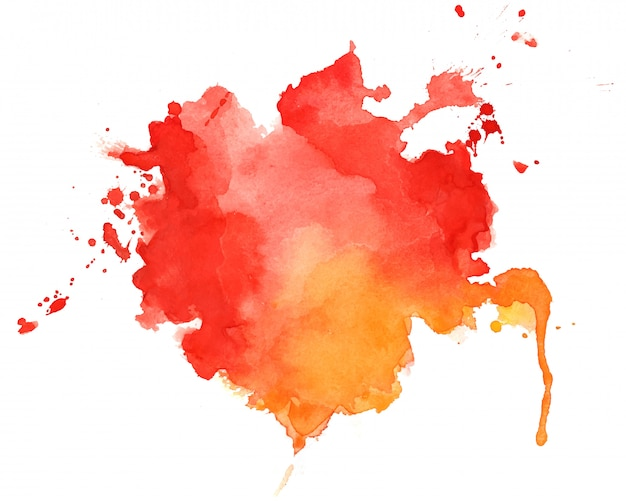 Abstrait De Texture Aquarelle Rouge Et Orange Vecteur gratuit