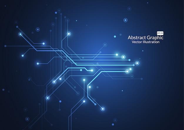 Abstrait avec la texture de la carte de circuit imprimé de la technologie Vecteur Premium