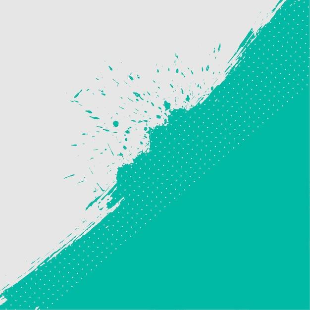 Abstrait De Texture Grunge Turquoise Et Blanc Vecteur gratuit