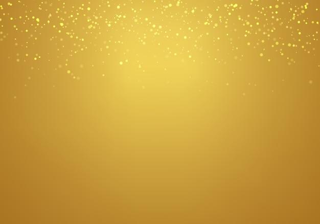 Abstrait tombant or paillettes d'or dégradé Vecteur Premium