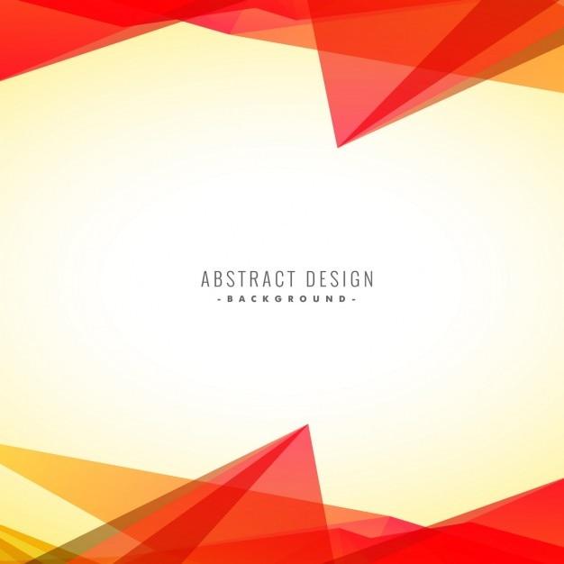 Abstrait triangles orange fond Vecteur gratuit