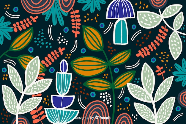 Abstrait tropical feuilles Vecteur gratuit