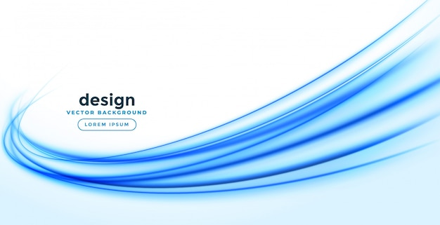 Abstrait vague bleue lisse Vecteur gratuit
