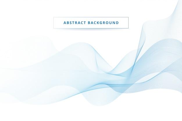 Abstrait vague bleue qui coule Vecteur Premium