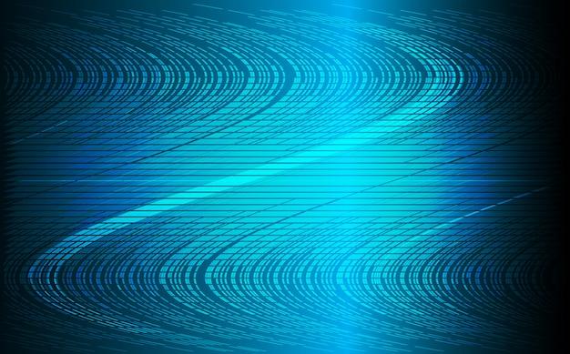 Abstrait de la vague bleue Vecteur Premium