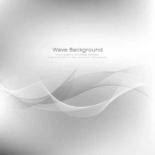 Abstrait vague grise Vecteur gratuit