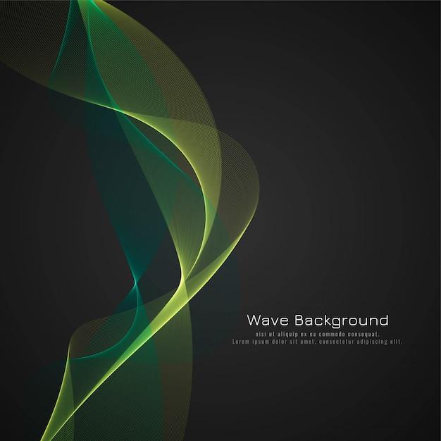 Abstrait vague vert brillant Vecteur gratuit