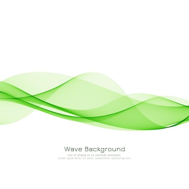 Abstrait vague verte élégante Vecteur Premium