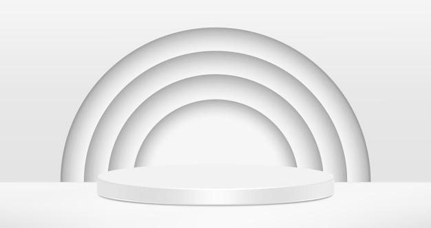 Abstrait De Vecteur Cercles Blancs. Vecteur Premium