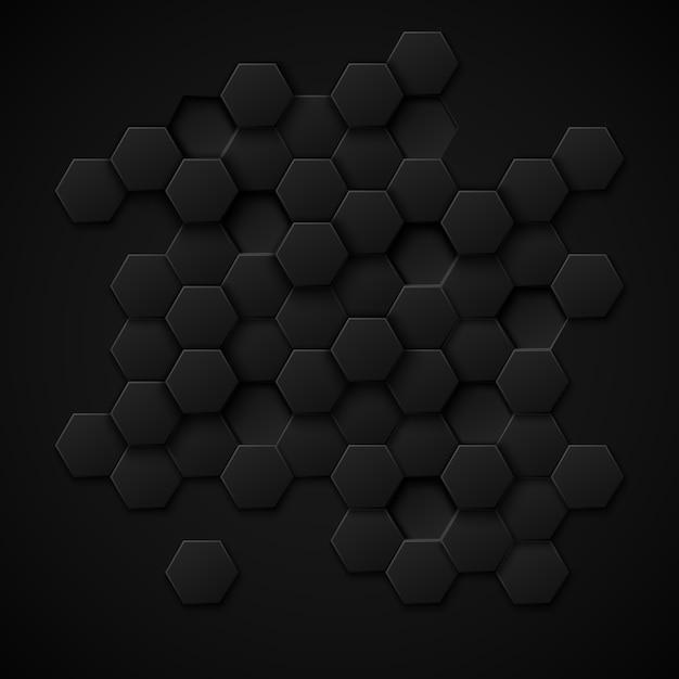 Abstrait De Vecteur De Technologie Carbone. Design Métal Noir, Matériau Industriel De Texture Vecteur gratuit