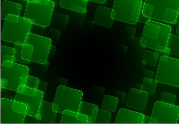 Abstrait vert carré Vecteur Premium