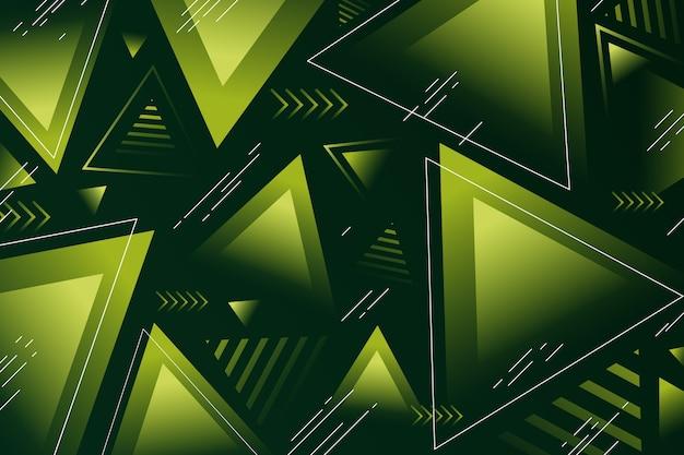 Abstrait Vert Avec Des Formes Vertes Vecteur gratuit