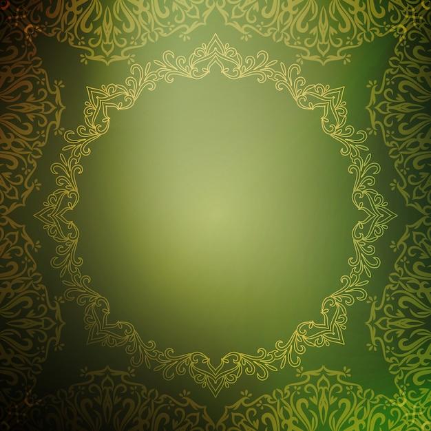 Abstrait Vert Luxe Royal Vecteur gratuit