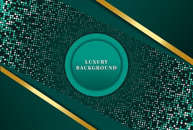 Abstrait Vert De Luxe Vecteur Premium