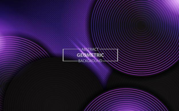 Abstrait violet clair géométrique avec des couches de cercle Vecteur Premium