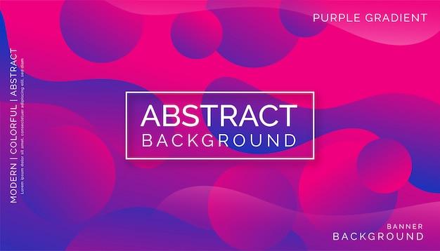 Abstrait violet, design dynamique coloré moderne Vecteur Premium