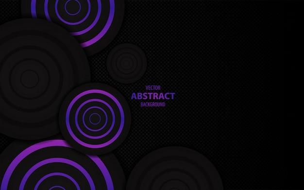 Abstrait violet foncé Vecteur Premium