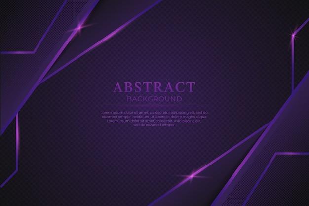 Abstrait violet de luxe avec une ligne violette brillante Vecteur Premium