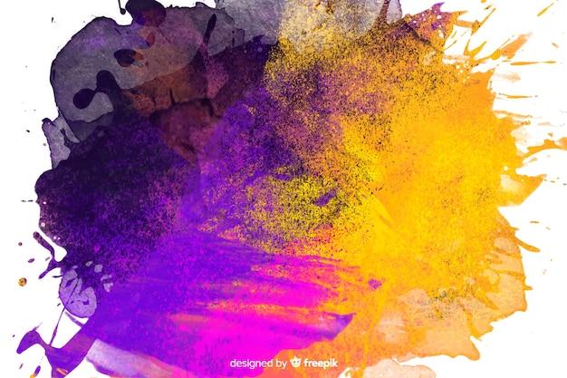 Abstrait avec violet et or Vecteur gratuit