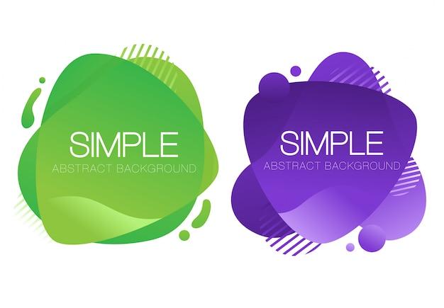 Abstrait violet et vert design fond liquide Vecteur Premium