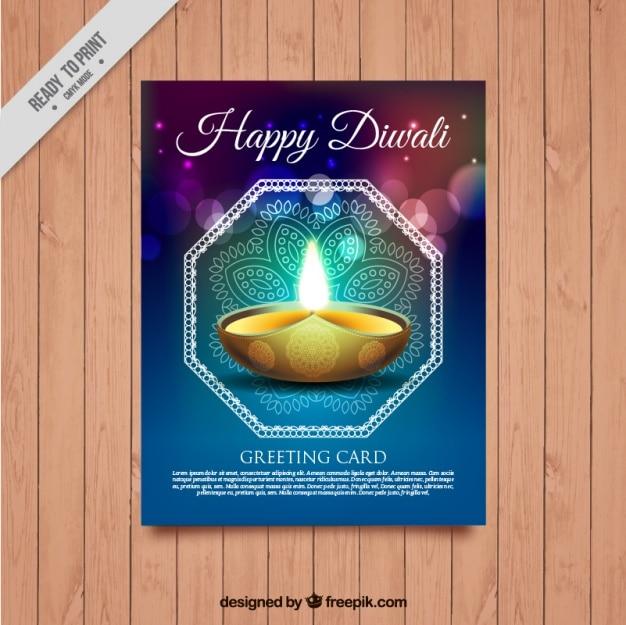 Abstraite brochure du festival de diwali lumineux Vecteur gratuit