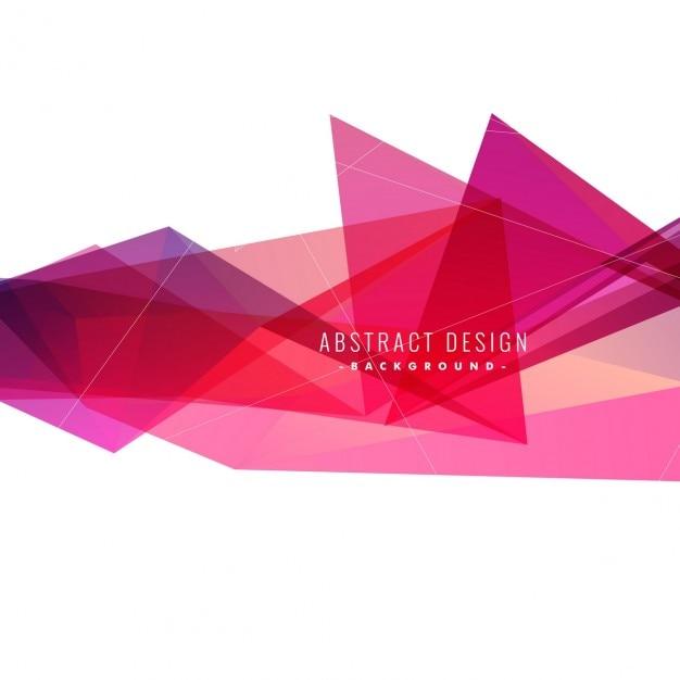 Abstraite triangles roses fond Vecteur gratuit