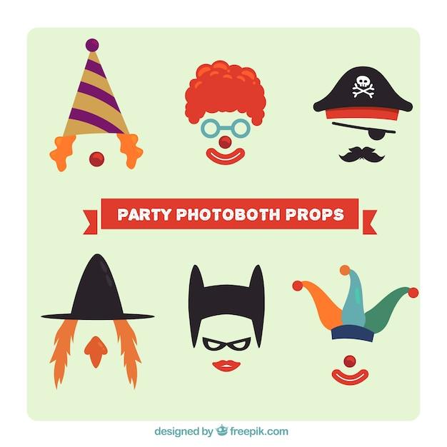 Accessoires De Costumes Pour Photoboth Vecteur gratuit