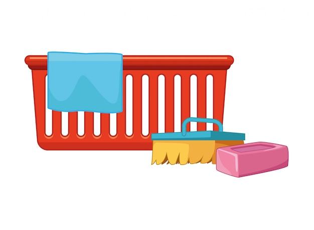 Accessoires de nettoyage et d'hygiène Vecteur Premium