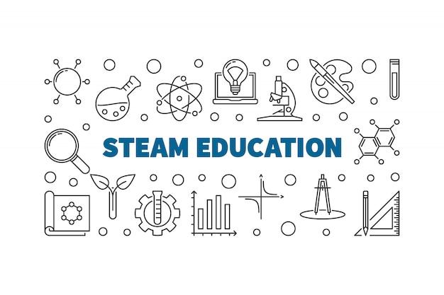 Accessoires steam education Vecteur Premium