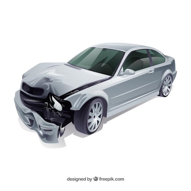 Accident De Voiture Vecteur gratuit
