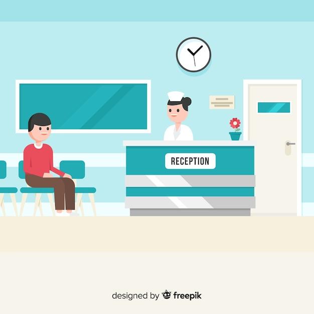 Accueil hospitalier Vecteur gratuit
