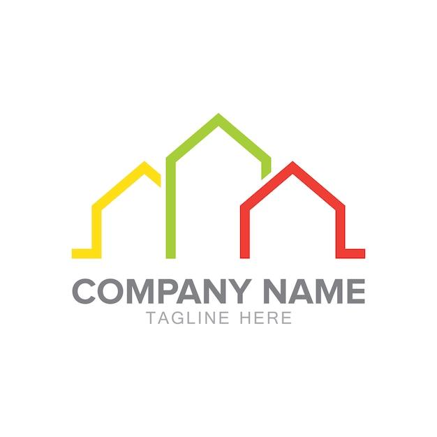 Accueil Logo Vecteur Premium