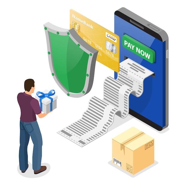 Achats Sur Internet Et Concept De Paiements En Ligne Vecteur Premium
