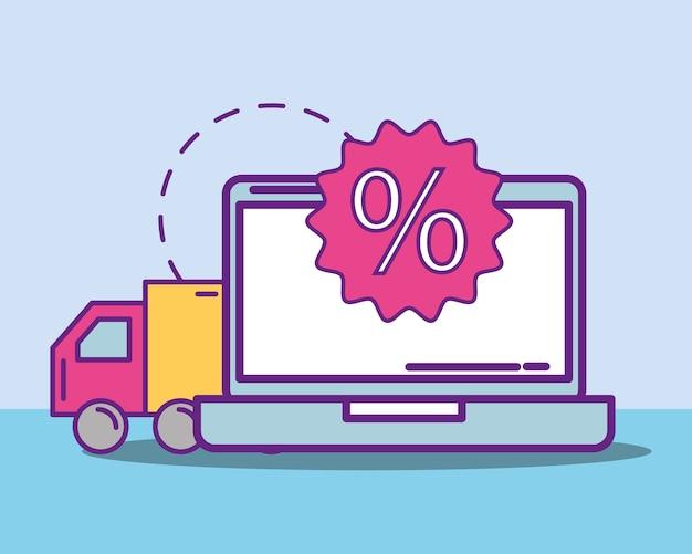Acheter le concept en ligne Vecteur Premium