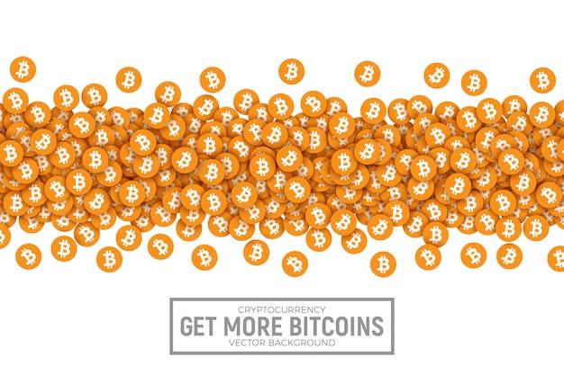 Acheter vendre bitcon conceptuel vector illustration Vecteur Premium