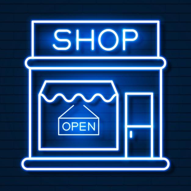 Achetez maintenant neon sign. prêt pour votre conception Vecteur Premium