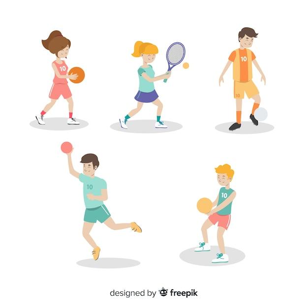 Activités sportives Vecteur gratuit