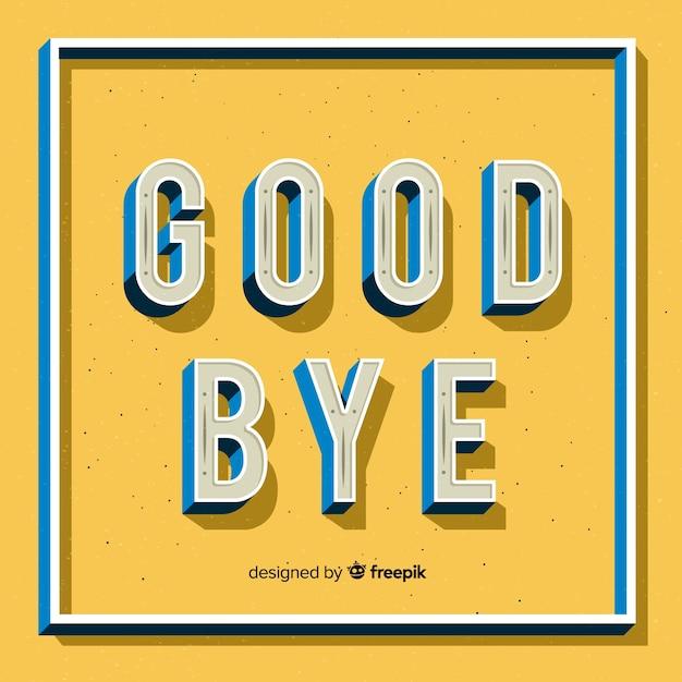 Adieu fond de lettres industrielles Vecteur gratuit