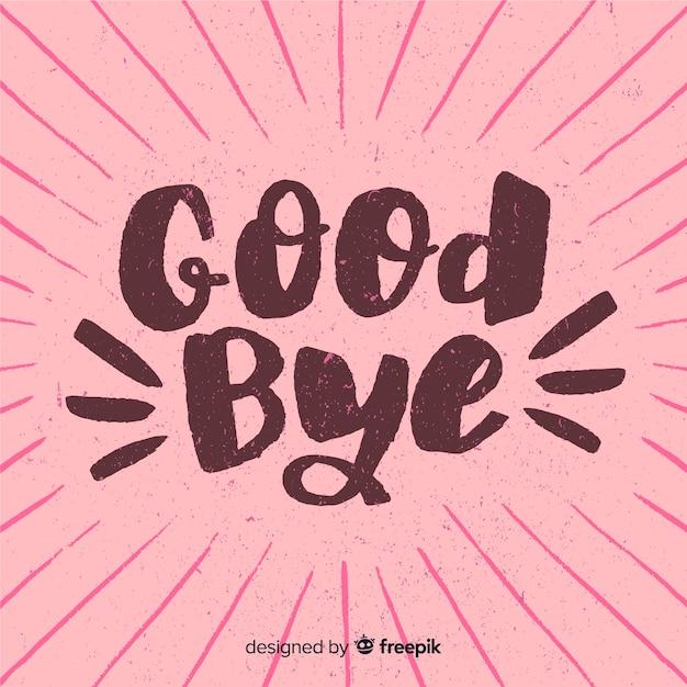 Adieu sunburst lettrage de fond Vecteur gratuit