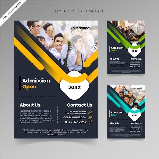 Admission ouvrir le modèle de flyer Vecteur Premium